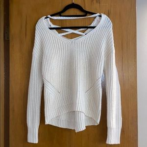American rag lace up knitted sweater, xs
